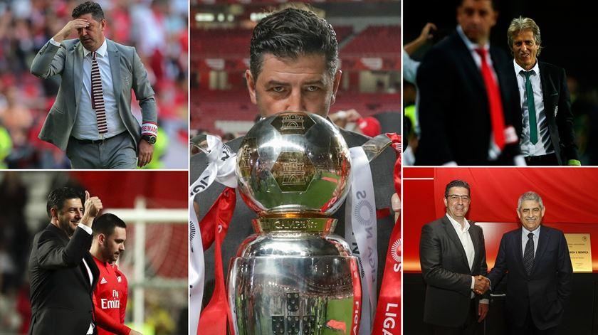 """Os títulos, as """"novelas"""" e um penta que não o foi. Os anos de Rui Vitória no Benfica"""