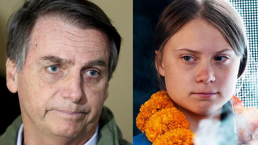 """Greta assume-se como """"pirralha"""" no Twitter em resposta a críticas de Bolsonaro"""