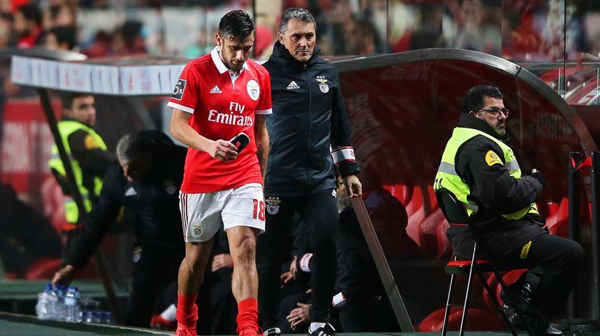 Salvio lesionou-se no jogo com o Desportivo de Chaves Foto: Mário Cruz/Lusa