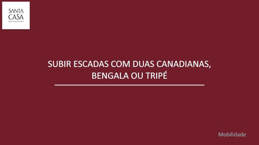 Tutorial SCML - Subir escadas com duas canadianas, bengala ou tripé