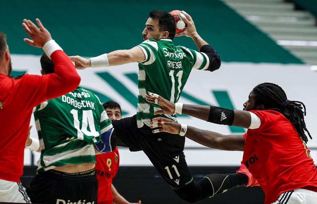 Andebol. Sporting derrota Benfica. Foto: SCP