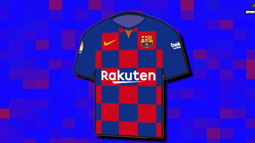 Croácia, és tu? Camisola do Barcelona para a próxima época será axadrezada