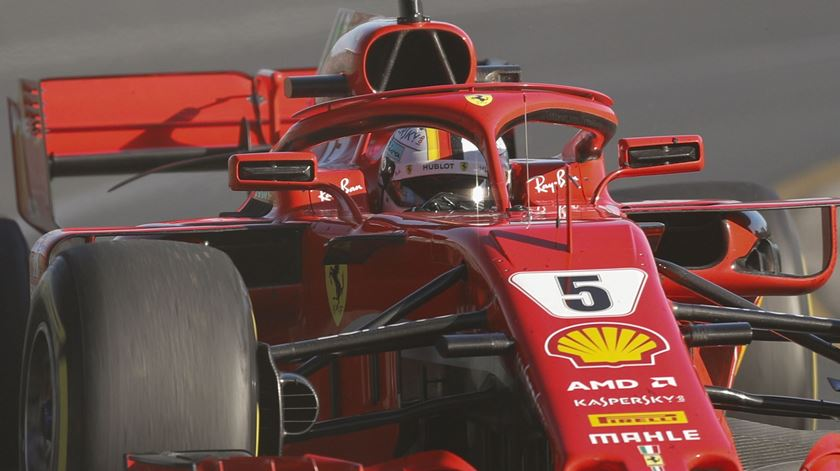 Vettel venceu o GP da Austrália, em Melbourne. Foto: Dave Acree/EPA