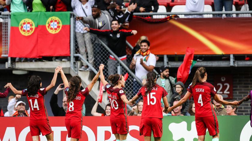 A seleção feminina no Europeu de 2017, na Holanda. Foto: UEFA