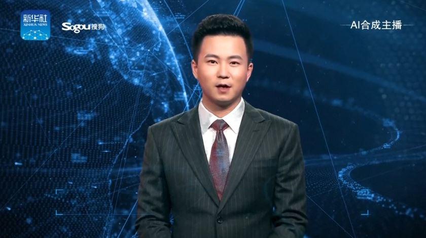 China desvenda primeiro pivot não-humano para substituir jornalista