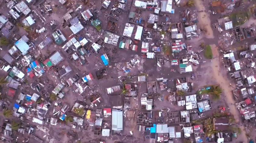 Moçambique. Português na Beira descreve cenário de destruição.