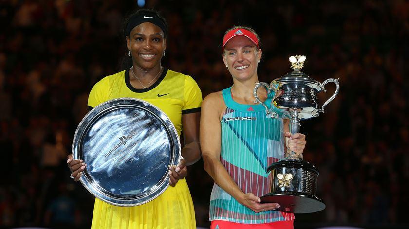 Kerber bateu Serena na final do Open da Austrália, há dois anos. Foto: DR
