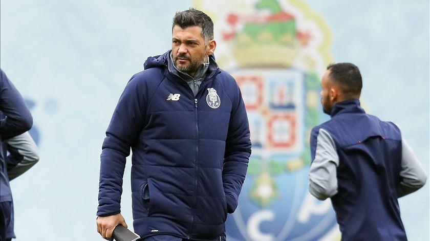 Sérgio Conceição prepara o jogo com o FC Porto, no Olival. Foto: Manuel Araújo/Lusa