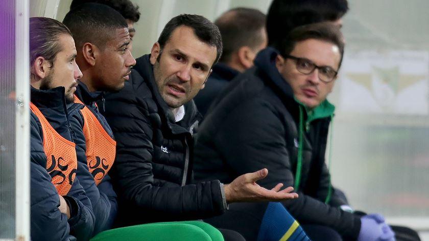 Sérgio Vieira estreou-se em novembro com empate diante do Portimonense Foto: Manuel Araújo/Lusa