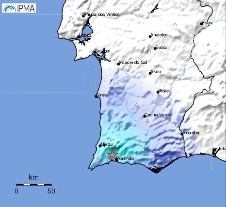 Sismo de 3.6 sentido no Algarve