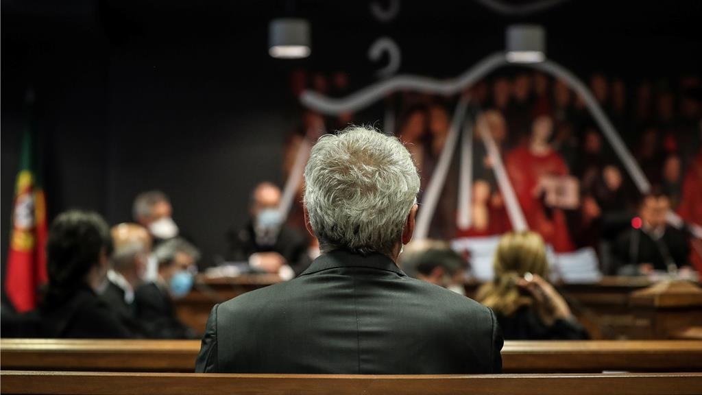José Sócrates assiste à leitura da decisão instrutória no caso Operação Marquês. Foto: Mário Cruz/Lusa