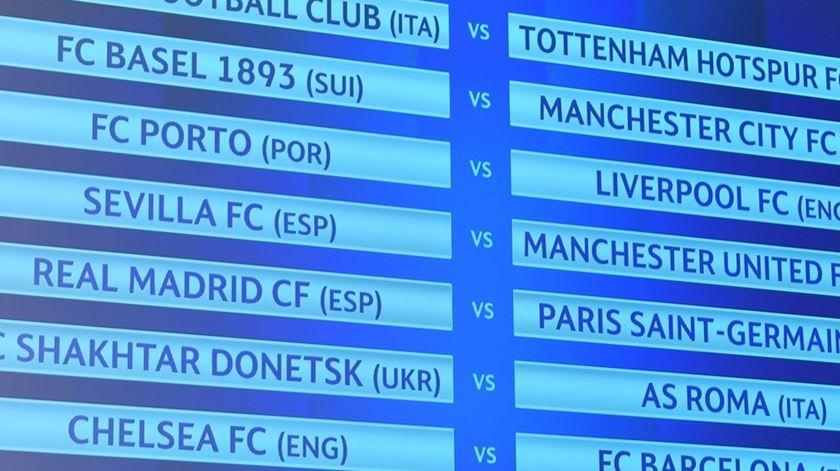 """Pesadelo inglês à vista para o Porto nos """"oitavos"""" da Liga dos Campeões"""