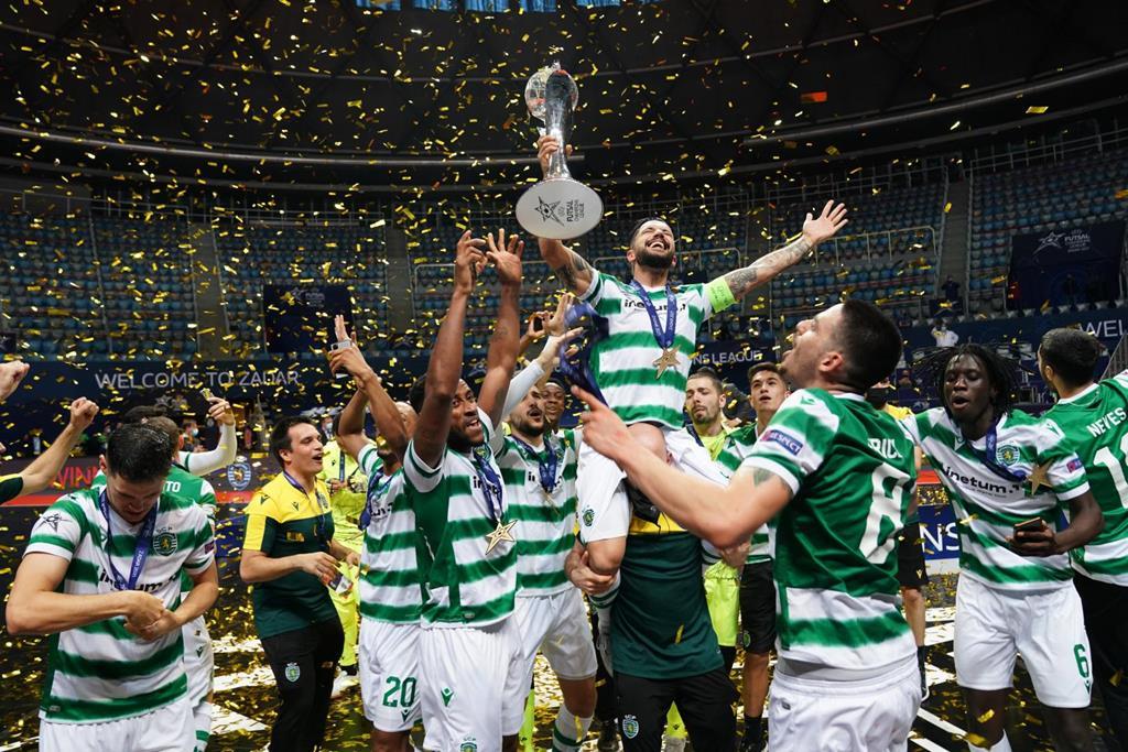 Sporting vence Liga dos Campeões de Futsal. Foto: Sporting