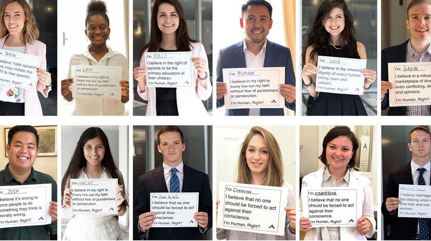 Campanha da ADF International por ocasião dos 70 anos da Declaração Universal dos Direitos Humanos. Foto: ADF