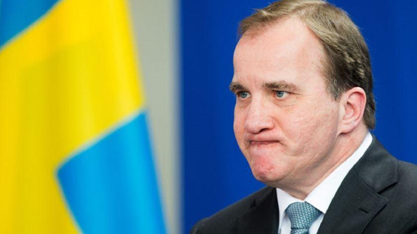 Stefan Lovfen, primeiro ministro da Suécia. Foto: Maurizio Gambarini/EPA