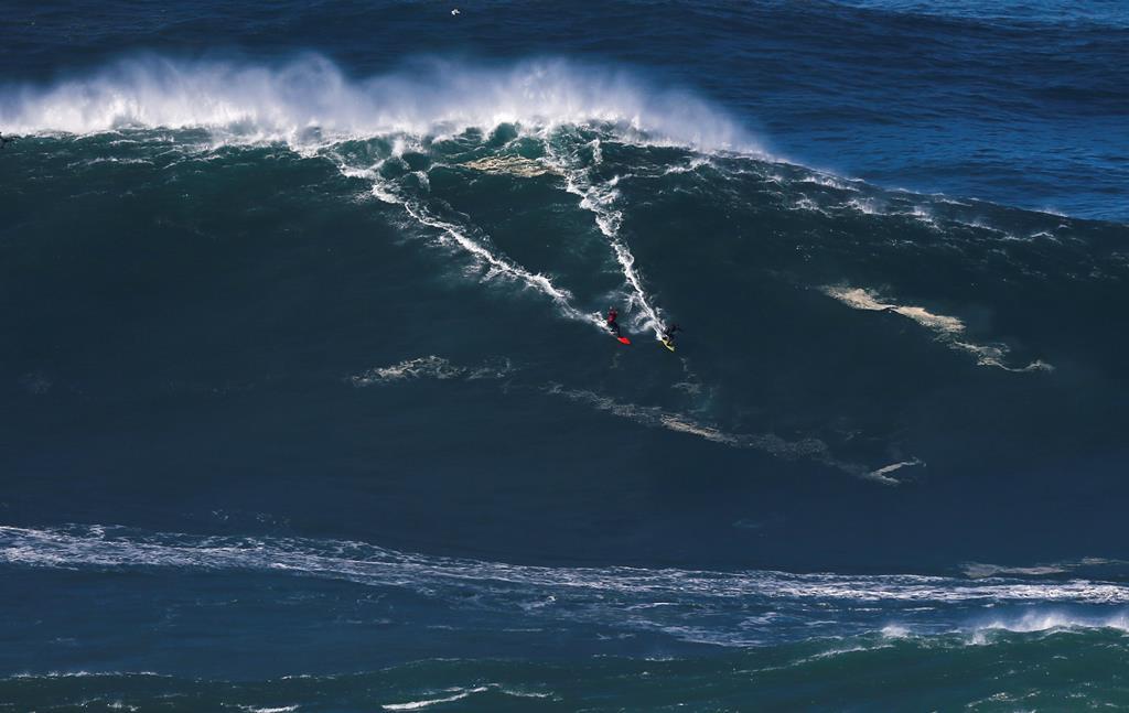 Onda gigante na Nazaré, surf. Foto: Rafael Marchante/Reuters (arquivo)