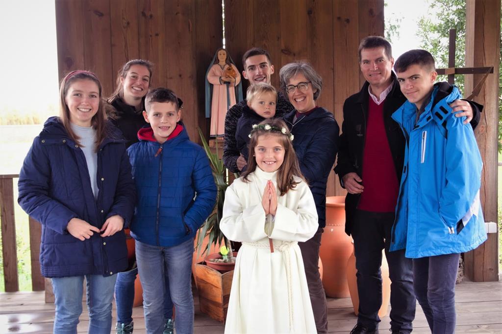 Teresa Power e a sua família. Foto: DR