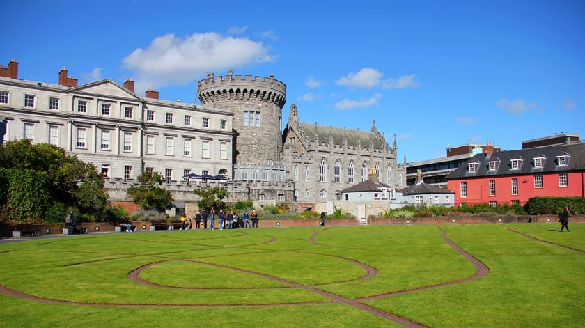 The Dubhlinn Gardens, junto ao Castelo de Dublin, na Irlanda. Foto: J. H. Janssen/Wikicommons