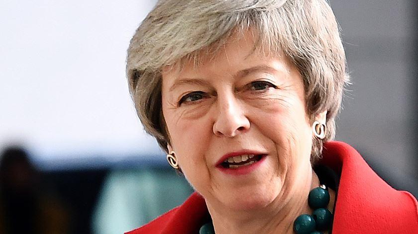 Acordo de Theresa May para o Brexit continua em risco. Foto: Andy Rain/EPA