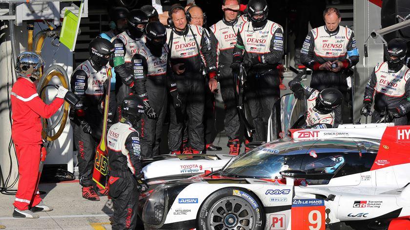 Alonso vai pilotar um Toyota no Mundial de Resistêncis. Foto: Eddy Lemaistre/EPA