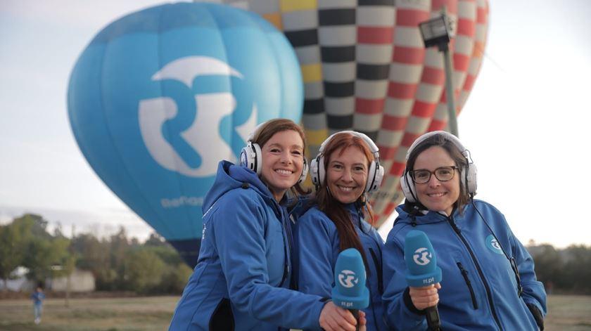 """Uma emissão histórica num balão de ar quente com """"As Três da Manhã"""""""