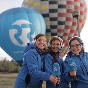 """Veja a emissão de rádio num balão de ar quente com """"As Três da Manhã"""""""