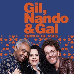 Trinca de Ases: Gal Costa, Nando Reis e Gilberto Gil em Portugal