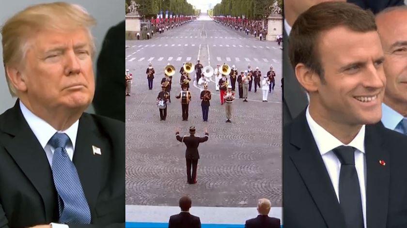 Fanfarra do exército francês põe todos a dançar Daft Punk. Menos Trump