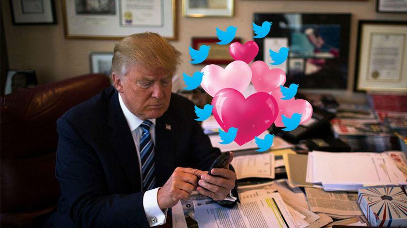 No Twitter de Trump a política é 100% luta