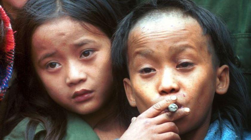 Johnny e Luther Htoo, líderes militares Karen durante vários anos. Foto: DR
