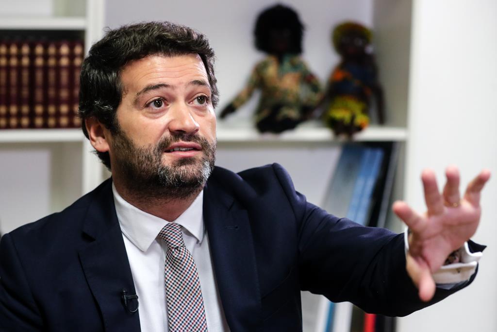 """Ventura quer um programa nacional de """"cultura e memória"""" para preservar """"todos os símbolos históricos da nação portuguesa"""".Foto: Tiago Petinga/Lusa"""