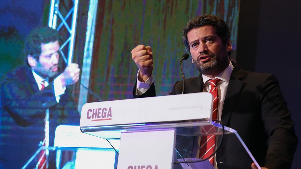 Líder do Chega participou numa manifestação pró-tauromaquia. Foto: Paulo Novais/Lusa