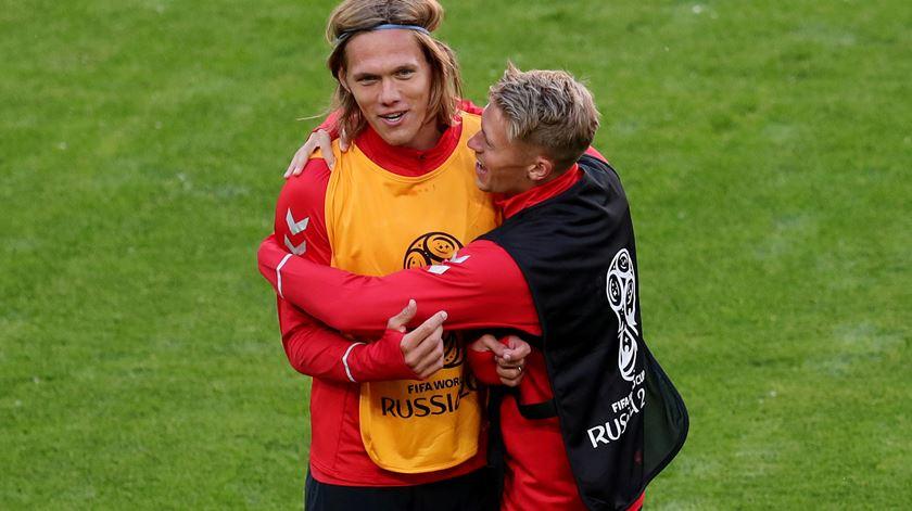 Vestergaard esteve na Rússia, mas não foi utilizado pelo selecionador dinamarquês. Foto: Ricardo Moraes/Reuters