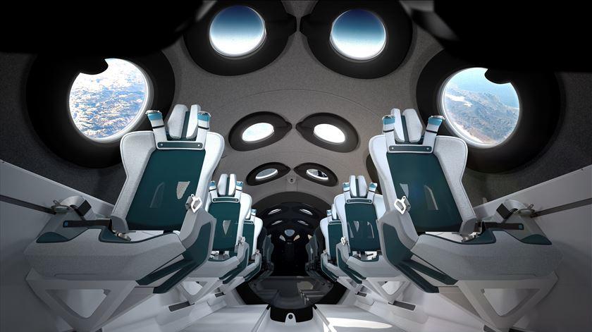 Turismo espacial. Virgin Galactic apresenta cabine de passageiros com design inovador