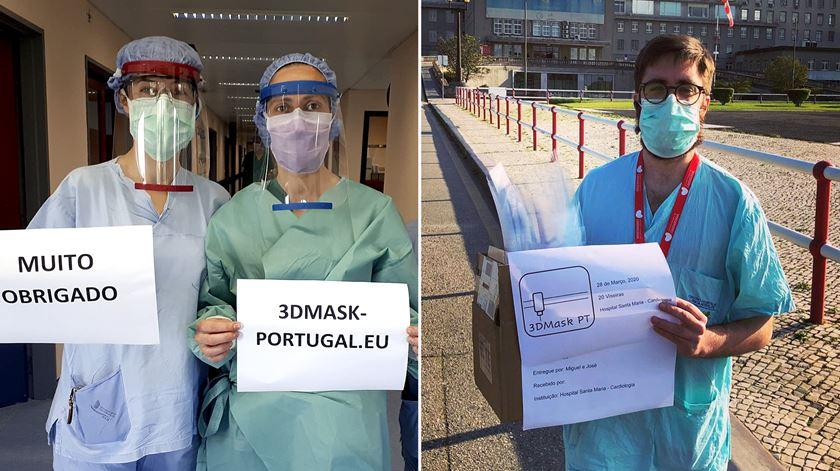 """Da """"quase clandestinidade"""" aos pedidos dos hospitais. Voluntários imprimem milhares de viseiras em 3D para médicos"""