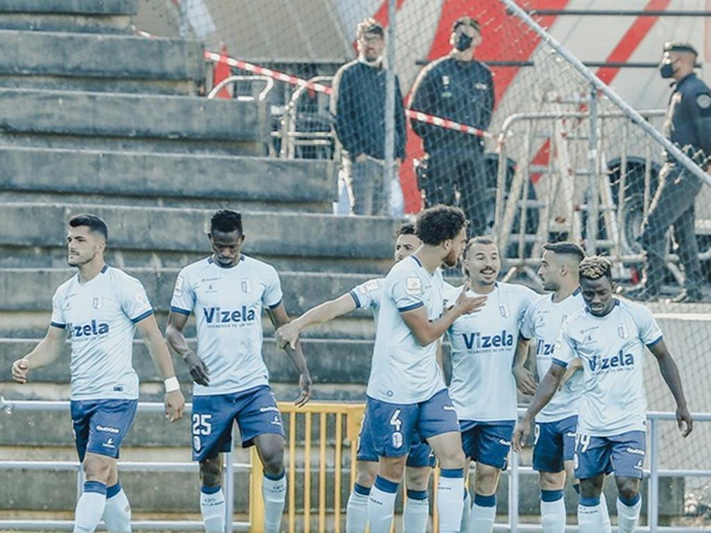 O Vizela garantiu a subida na última jornada, com uma vitória ao Vilafranquense. Foto: Liga Portugal