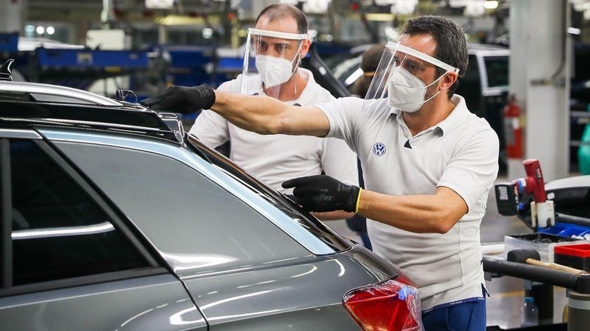 No início de abril, que as empresas do parque industrial já tinham despedido 500 trabalhadores temporários desde o início do surto do novo coronavírus.Foto:José Sena Goulão/Lusa
