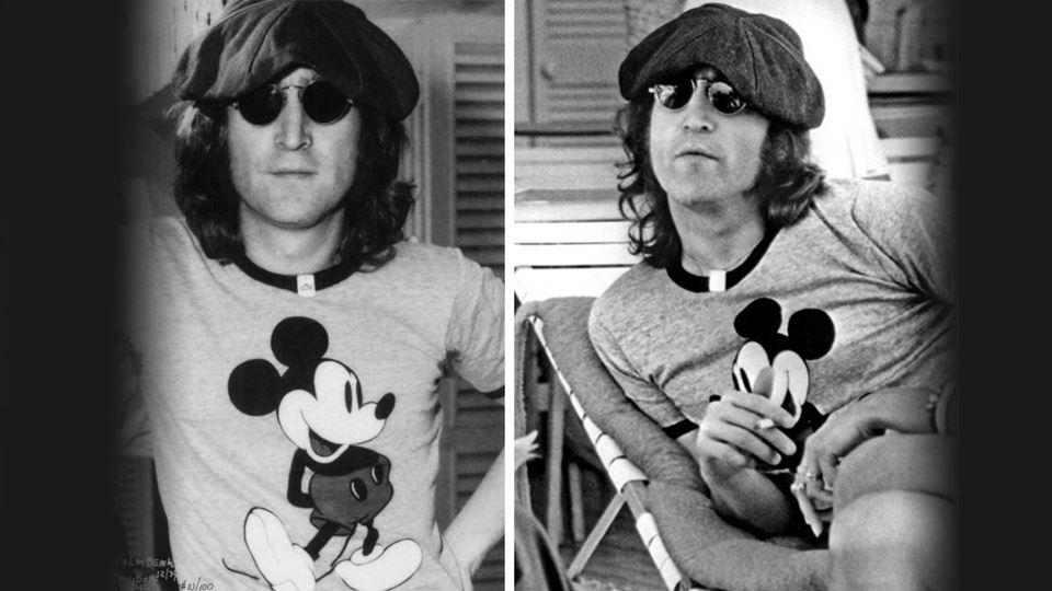 John Lennon e o Mickey