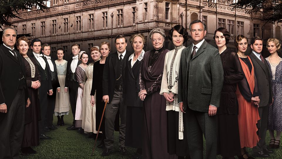 O elenco de Downton Abbey, a série