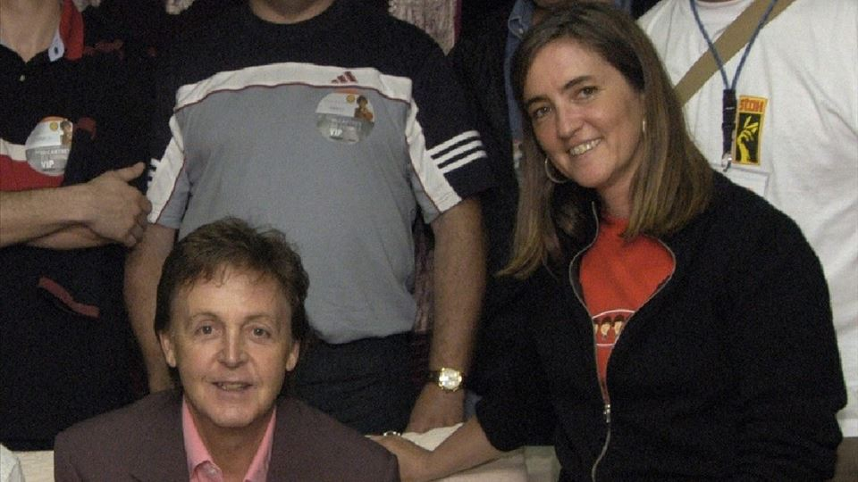 Paul McCartney e Teresa Lage da RFM Rock in Rio Lisboa 2004