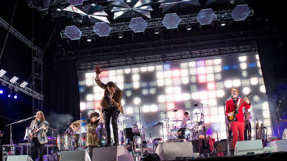 Os Arcade Fire em 2014 no Rock in Rio Lisboa