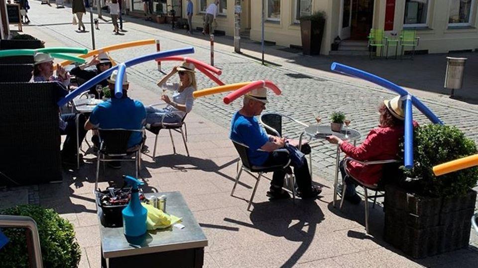 Na Alemanha a distância social...