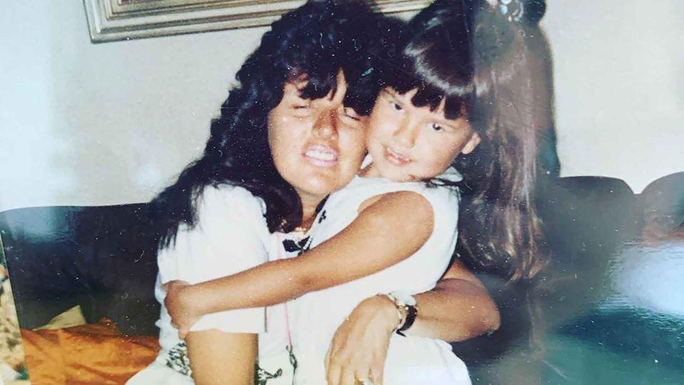 Carolina Camargo com a mãe