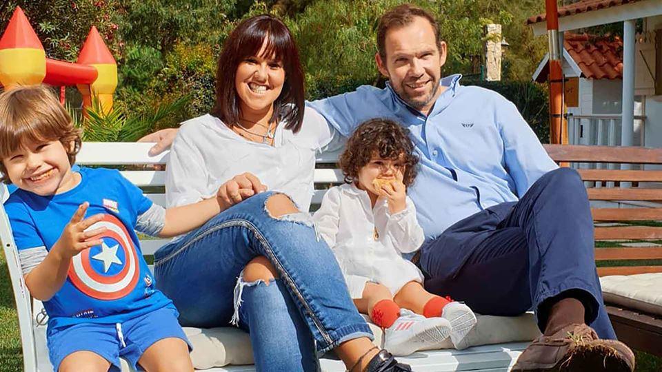 Carolina com a família