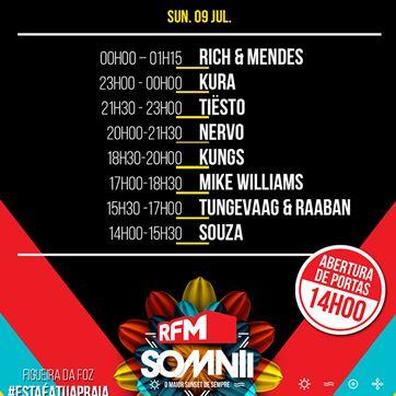 Cartaz RFM Somnii domingo