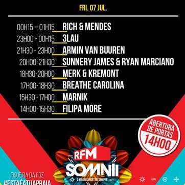 Cartaz RFM Somnii sexta