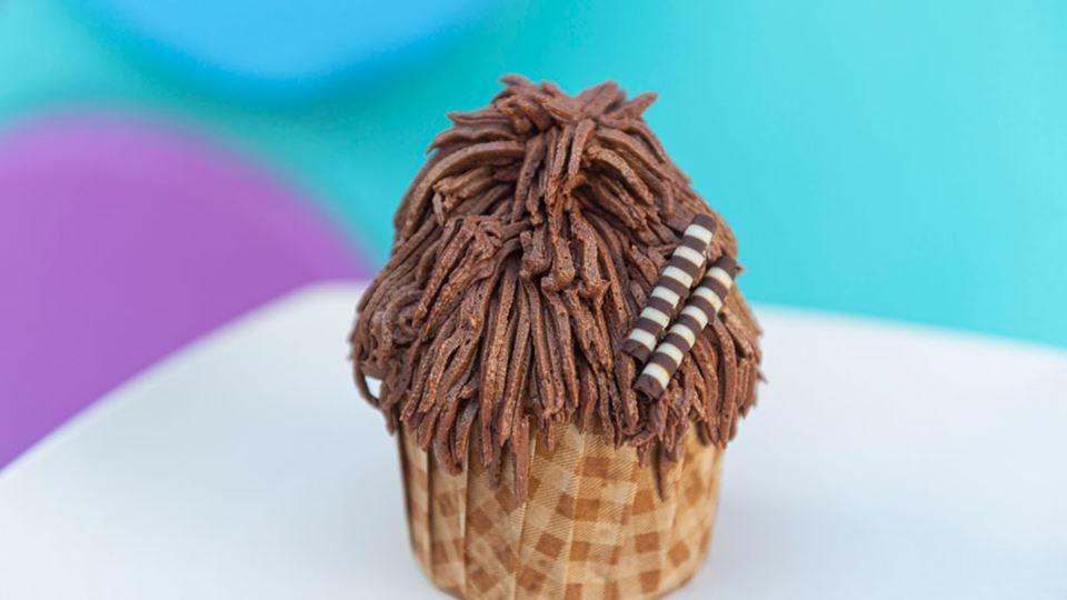 Chewbacca Chocolate-Hazelnut Cupcake
