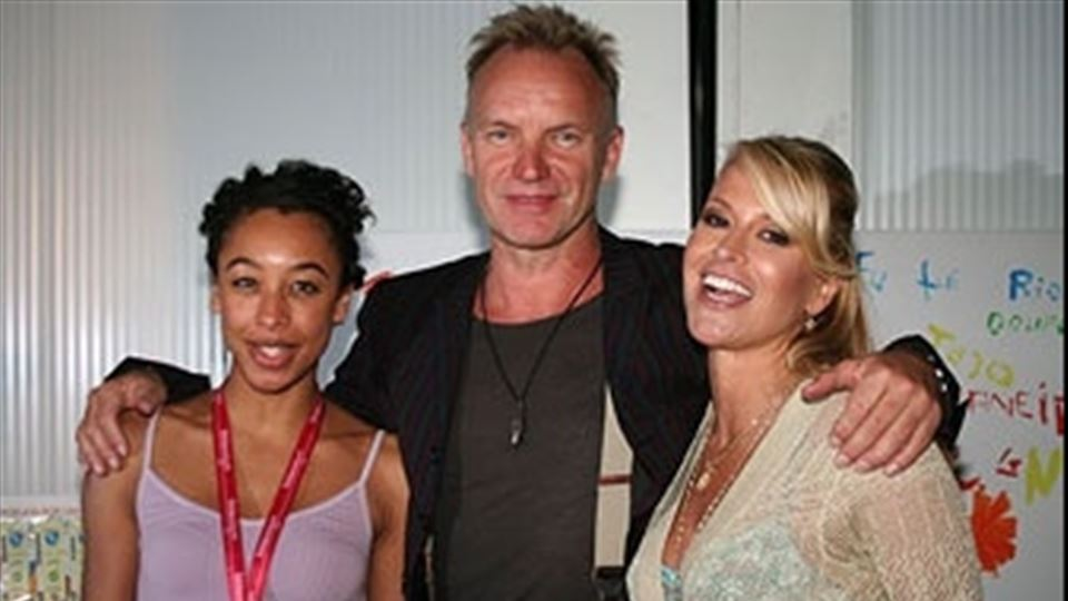 Corine com Sting e Anastacia no Rock in Rio Lisboa 2006