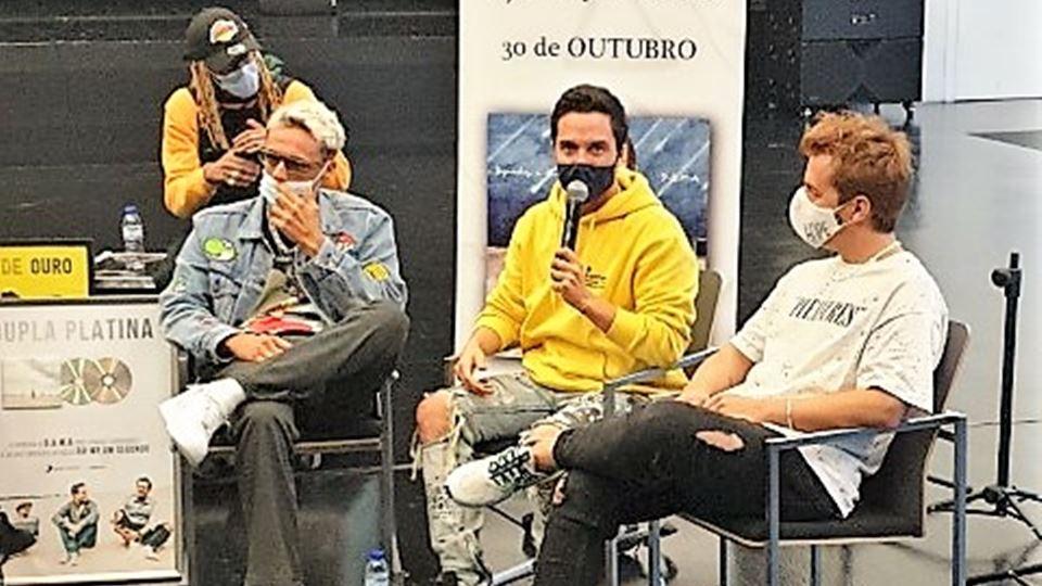 Miguel Cristovinho, Miguel Coimbra e Kasha no Capitólio