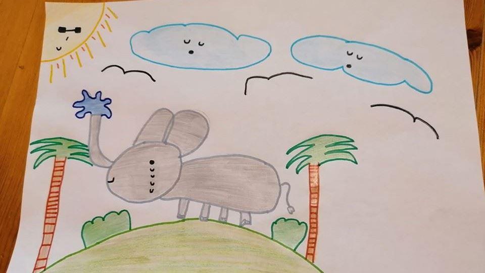 desenho elefante 3